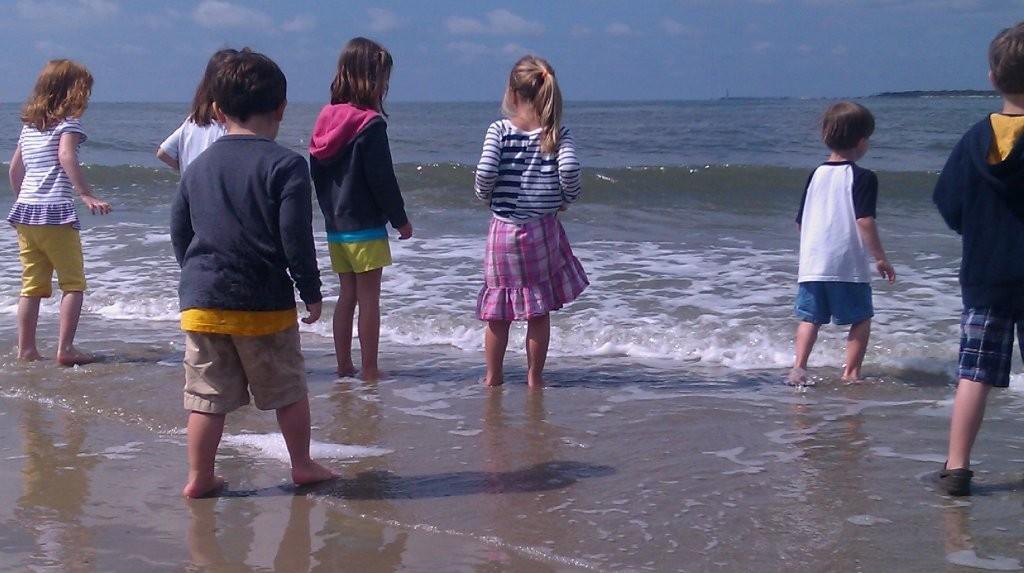 Kinderfeestje op het Strand